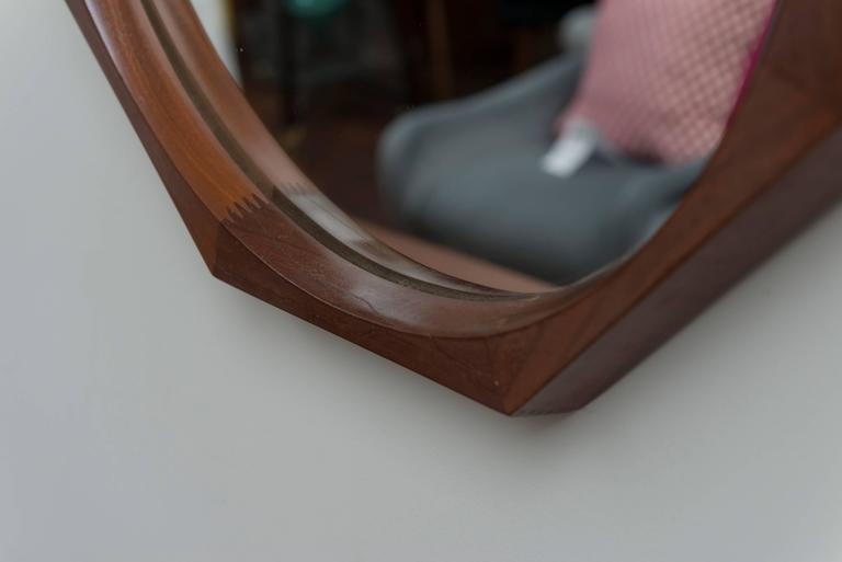 Swedish Rosewood Wall Mirror For Sale 1
