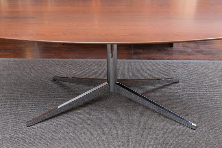 Florence Knoll Rosewood Oval Dining Table 2