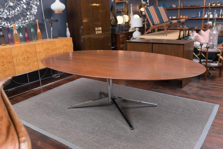 Florence Knoll Rosewood Oval Dining Table 3