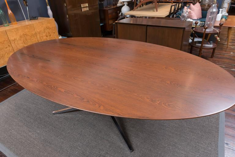Florence Knoll Rosewood Oval Dining Table 4