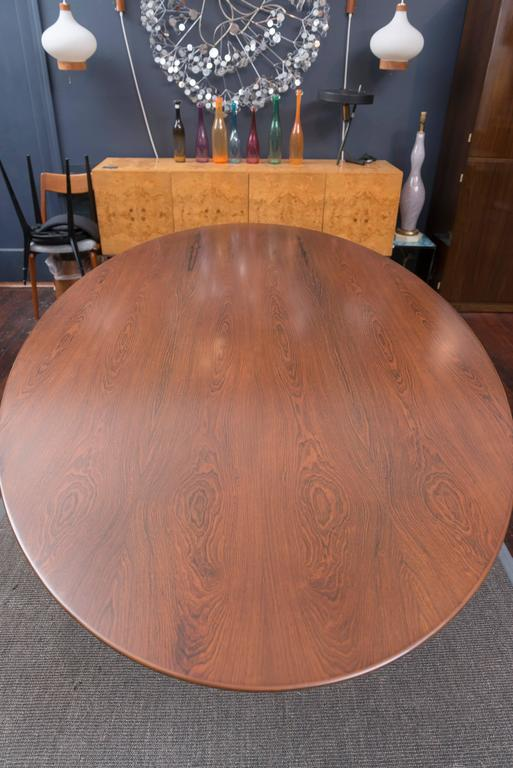 Florence Knoll Rosewood Oval Dining Table 5