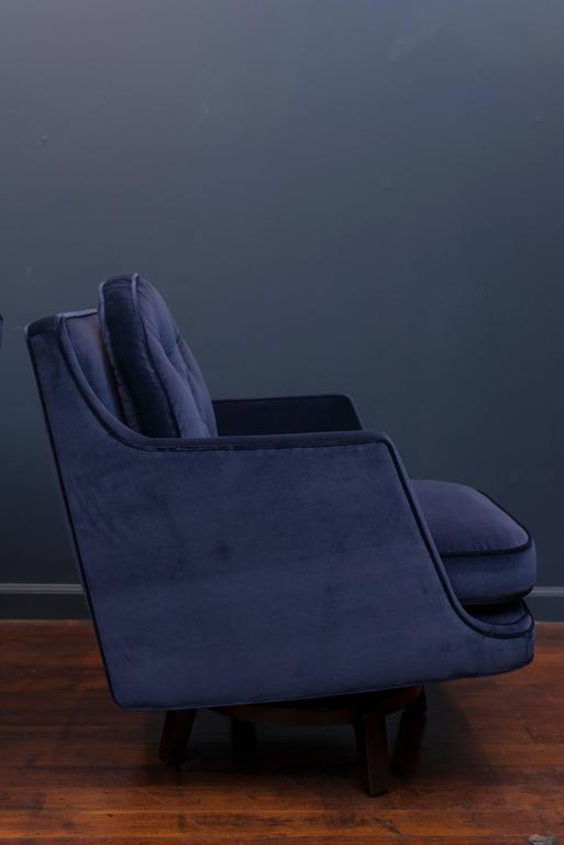 Mid-Century Modern Dunbar Swivel Lounge Chairs For Sale