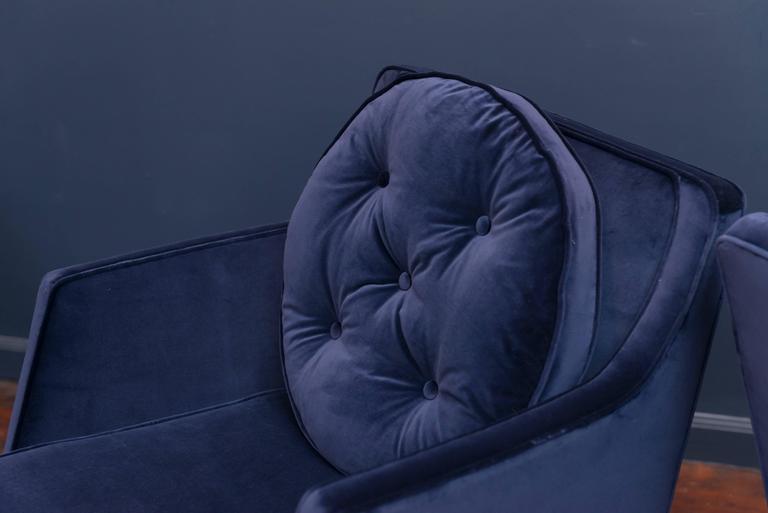 American Dunbar Swivel Lounge Chairs For Sale