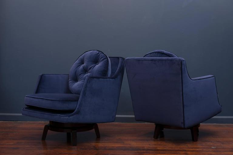 Mid-20th Century Dunbar Swivel Lounge Chairs For Sale