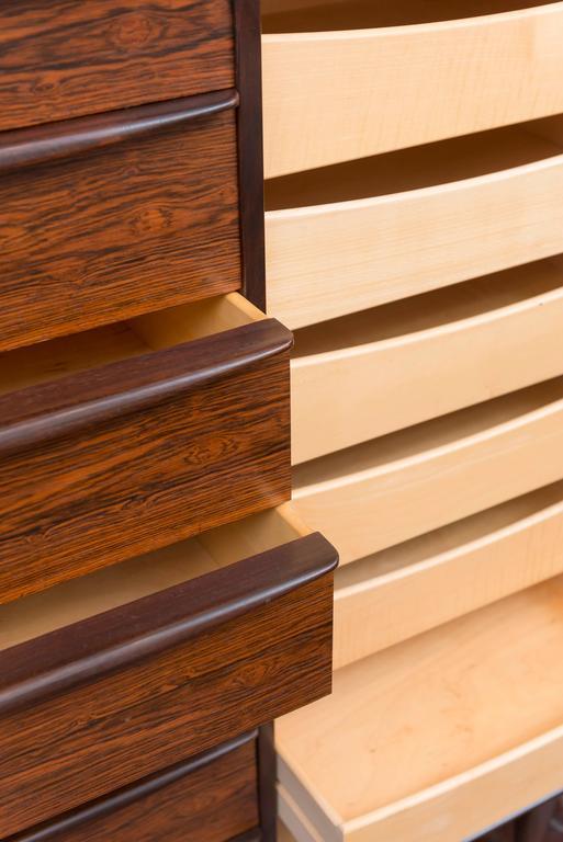 Scandinavian Modern Danish Rosewood Dresser by Falster For Sale