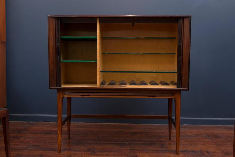 Mid-20th Century Kurt Ostervig Rosewood Bar Cabinet For Sale