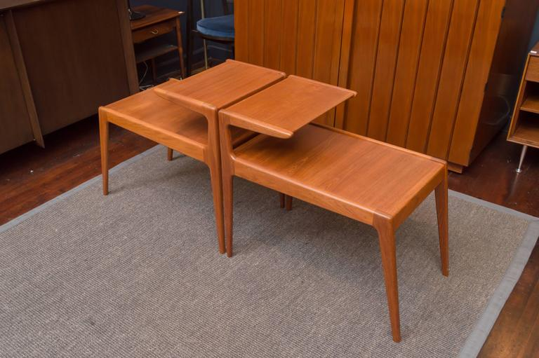 Danish Modern Teak Side Tables For Sale 1