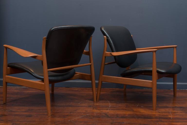 Finn Juhl Lounge Chairs FD 136 7