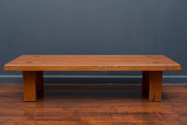 Refined coffee table by renowned French designer Pierre Chapo model