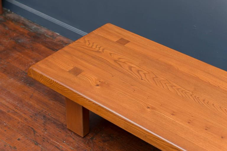 Mid-Century Modern Pierre Chapo French Elm Coffee Table For Sale
