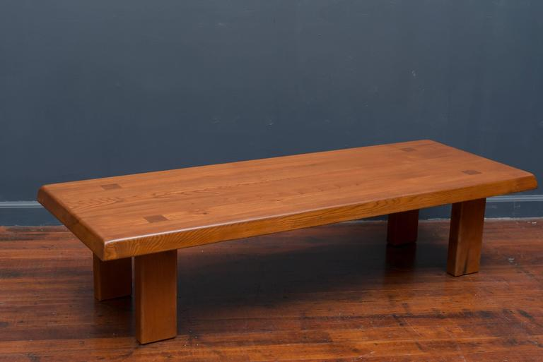Pierre Chapo French Elm Coffee Table In Excellent Condition For Sale In San Francisco, CA