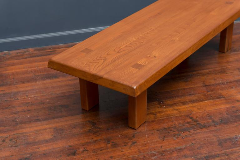 Pierre Chapo French Elm Coffee Table For Sale 1
