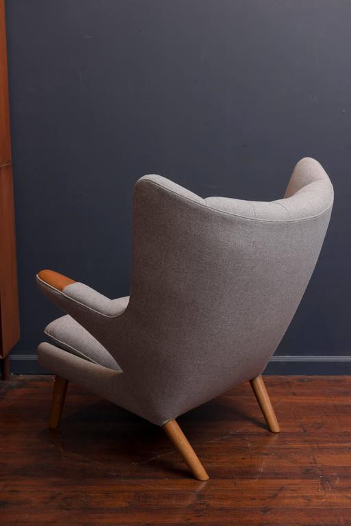 Hans Wegner Papa Bear Chair and Ottoman For Sale 2
