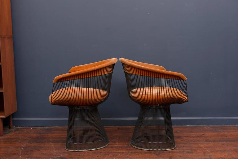 Mid-Century Modern Warren Platner Bronze Dining Chairs for Knoll For Sale