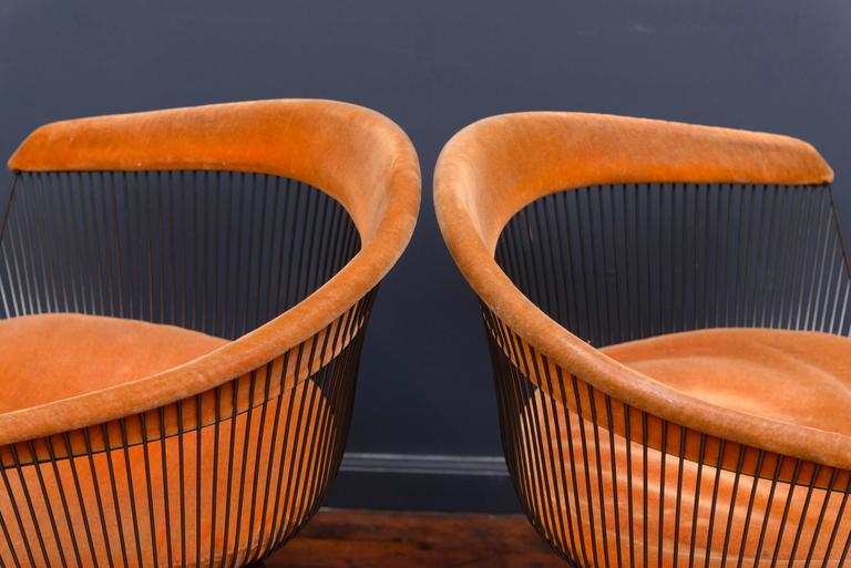 American Warren Platner Bronze Dining Chairs for Knoll For Sale