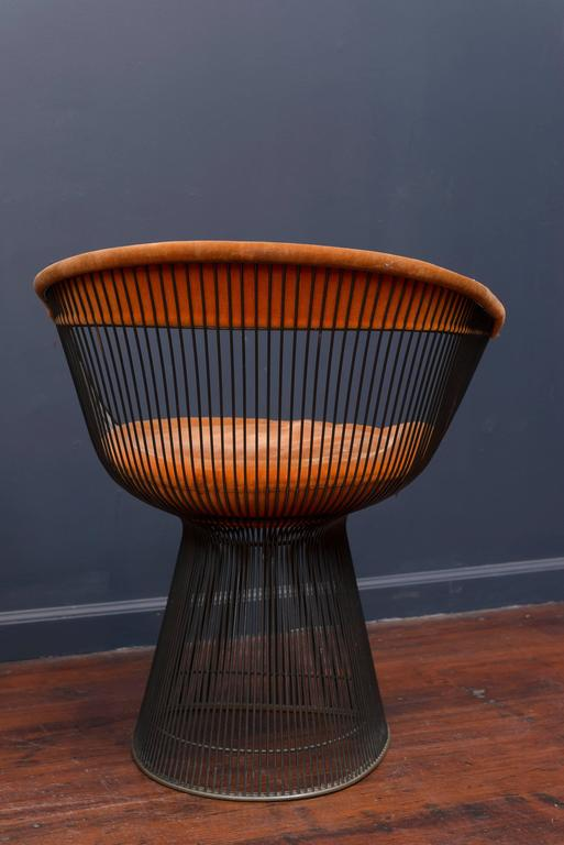 Mid-20th Century Warren Platner Bronze Dining Chairs for Knoll For Sale