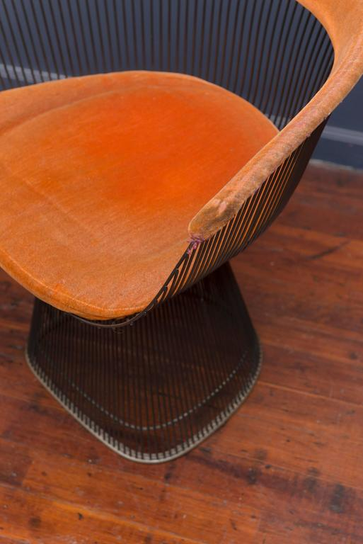 Warren Platner Bronze Dining Chairs for Knoll For Sale 2
