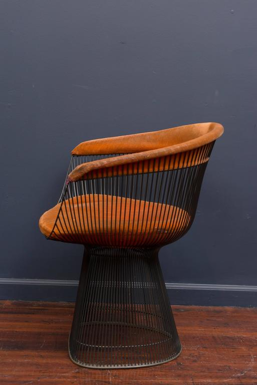 Warren Platner Bronze Dining Chairs for Knoll For Sale 3