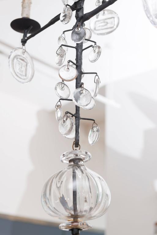 Erik Hoglund Kosta Boda Chandelier In Excellent Condition For Sale In San Francisco, CA