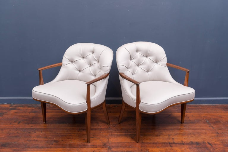 Pair of Janus Lounge Chairs by Edward Wormley for Dunbar 2