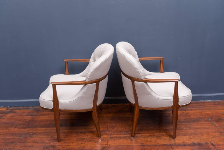 Pair of Janus Lounge Chairs by Edward Wormley for Dunbar 4