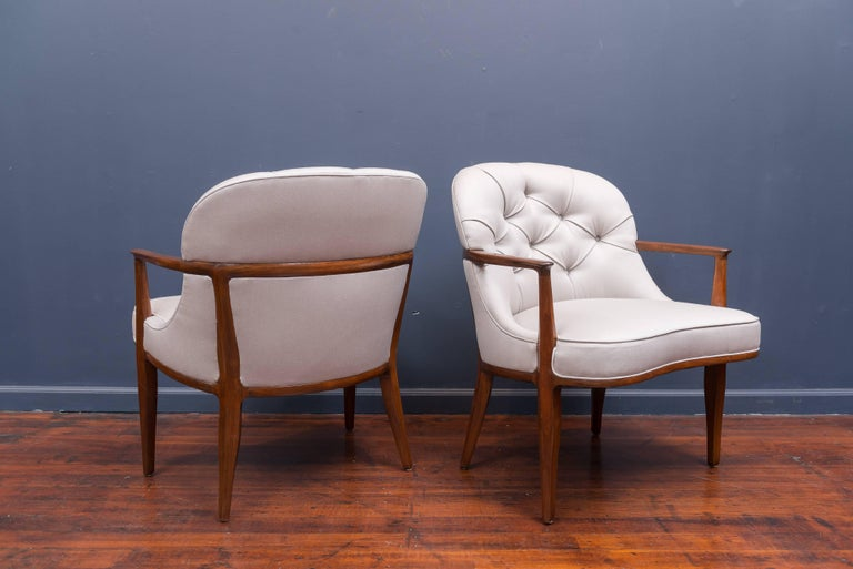 Pair of Janus Lounge Chairs by Edward Wormley for Dunbar 5