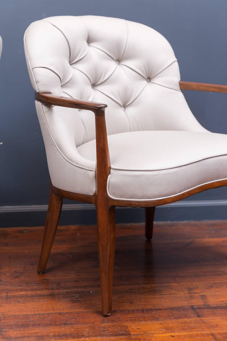 Pair of Janus Lounge Chairs by Edward Wormley for Dunbar 6