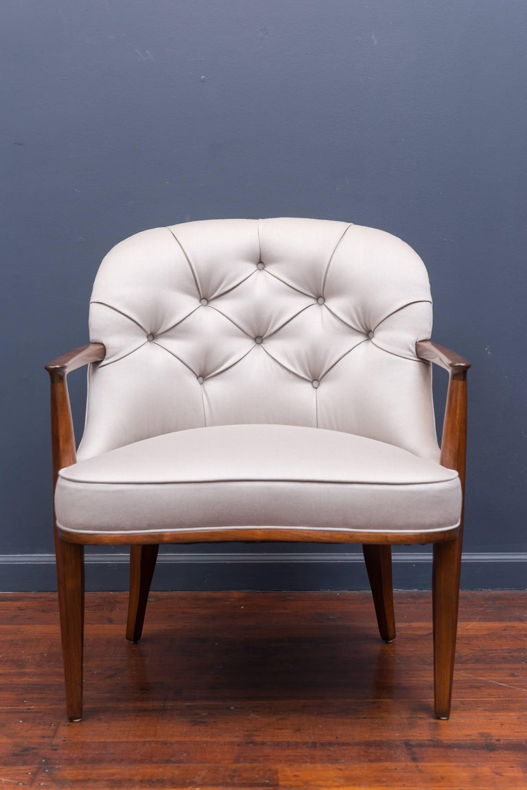Pair of Janus Lounge Chairs by Edward Wormley for Dunbar 8