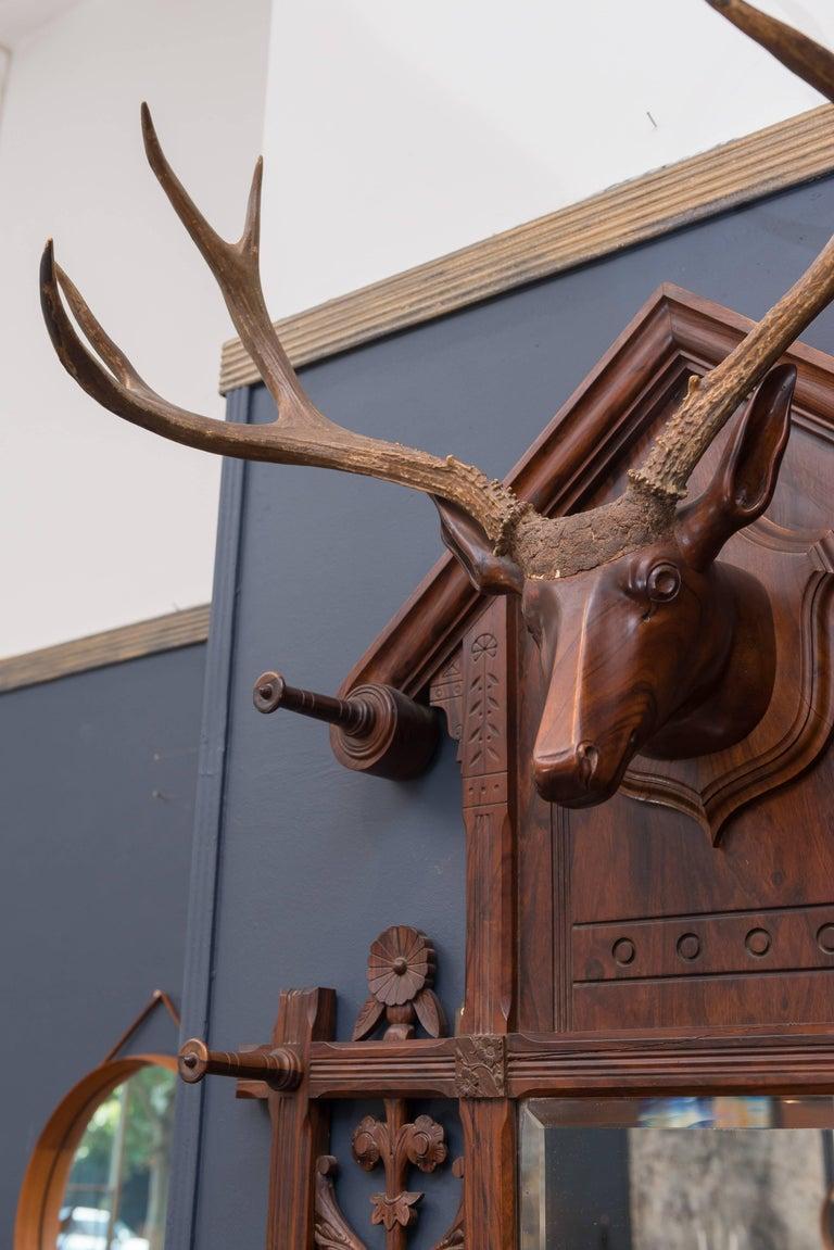 Black Forest Folk Art Deer Head Coat Rack For Sale 4