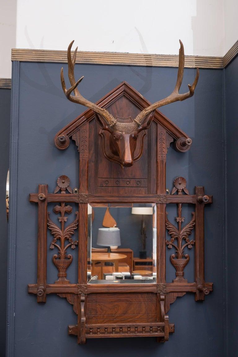 Black Forest Folk Art Deer Head Coat Rack 10