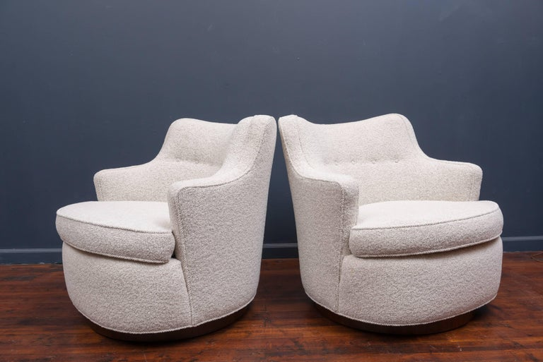 Swivel Lounge Chairs by Edward Wormley for Dunbar 2