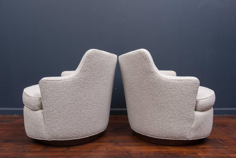 Swivel Lounge Chairs by Edward Wormley for Dunbar 3