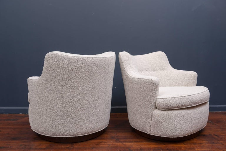 Swivel Lounge Chairs by Edward Wormley for Dunbar 4