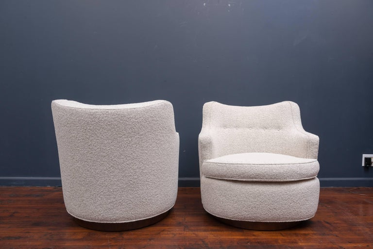 Swivel Lounge Chairs by Edward Wormley for Dunbar 5
