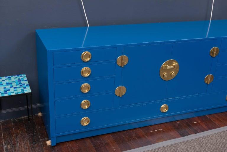 Dunbar Blue Lacquer Credenza 3