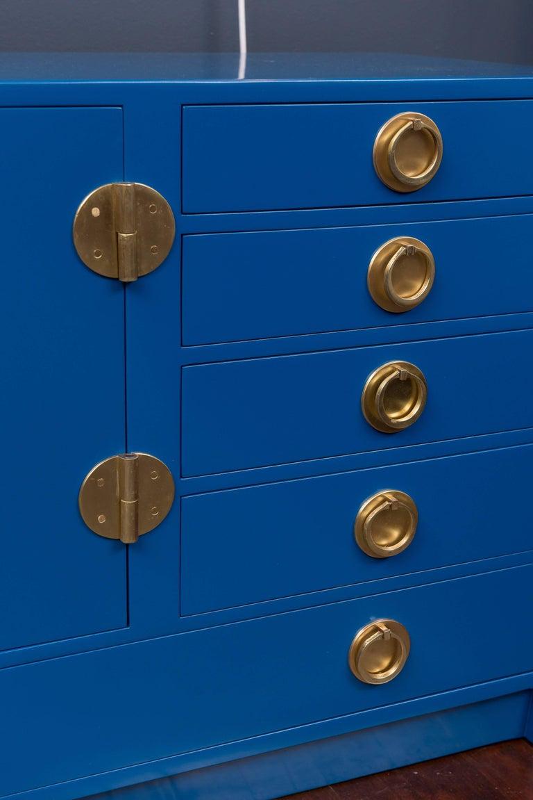 Dunbar Blue Lacquer Credenza 7