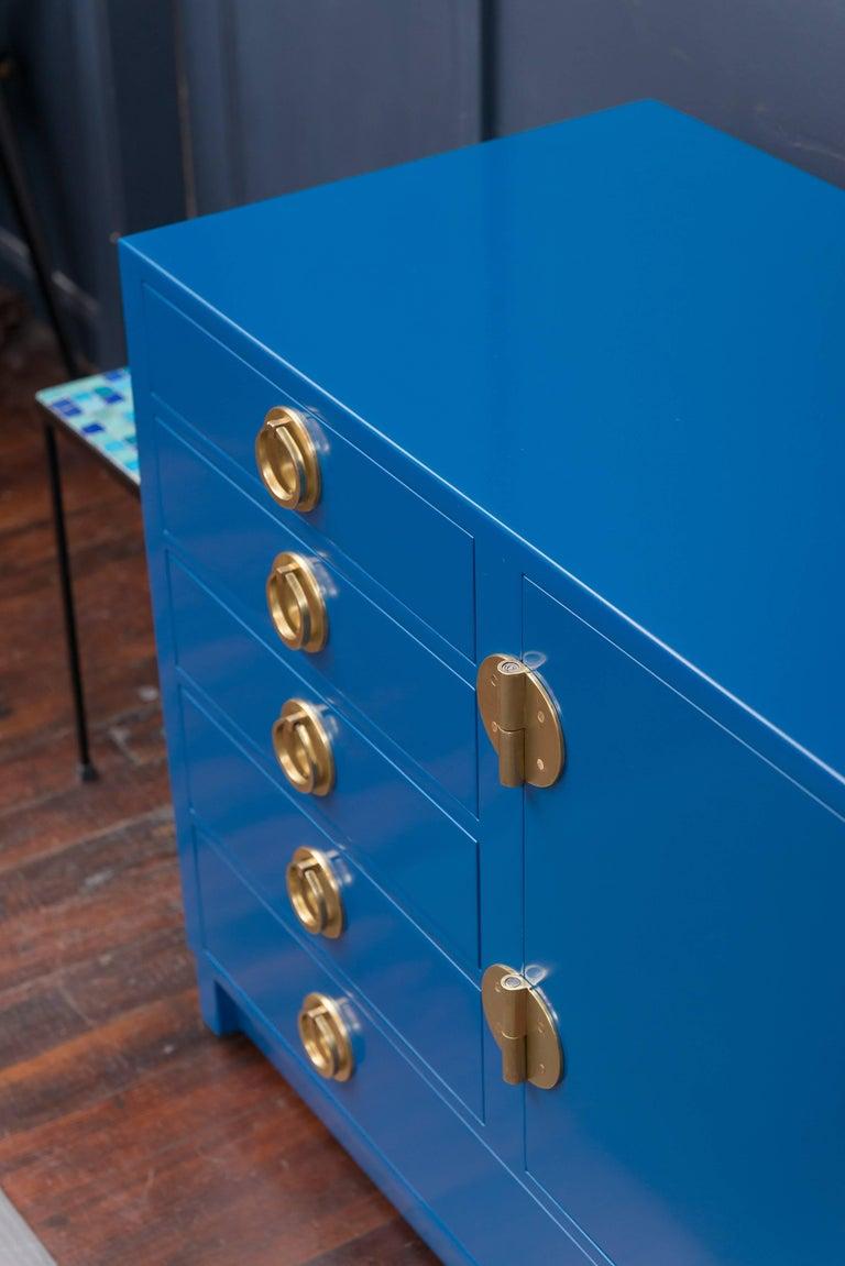 Dunbar Blue Lacquer Credenza 8
