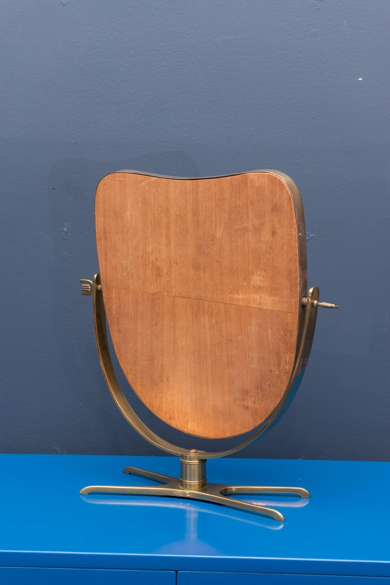 Italian Brass Vanity or Tabletop Mirror 5
