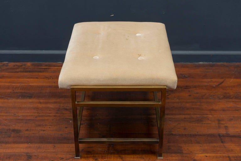 Edward Wormley Brass Bench for Dunbar In Good Condition For Sale In San Francisco, CA