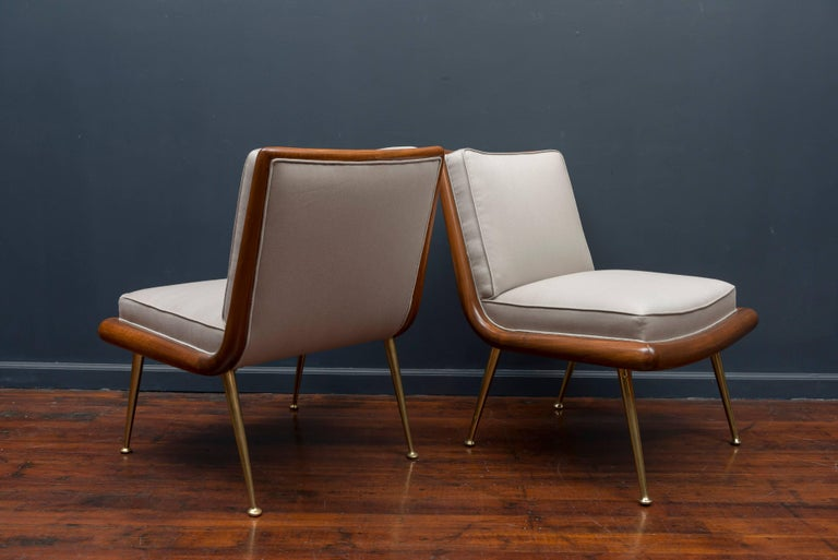 T.H. Robsjohn-Gibbings Lounge Chairs For Sale 1