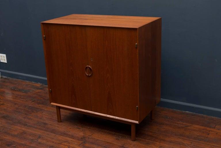 Scandinavian Modern Peter Hvidt & Orla Mølgaard Teak Cabinet For Sale