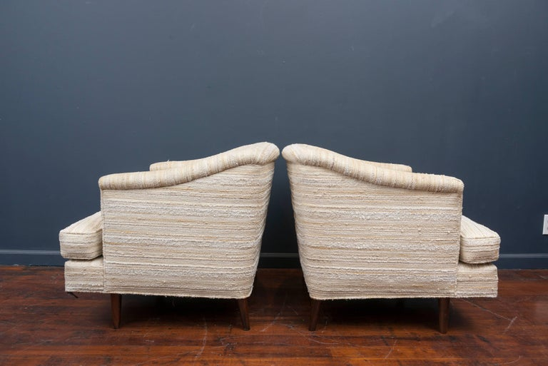 Mid-Century Modern Edward Wormley Lounge Chairs for Dunbar For Sale