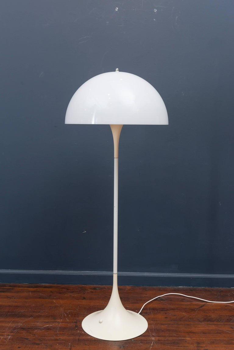 Scandinavian Modern Verner Panton Panthella Floor Lamp For Sale