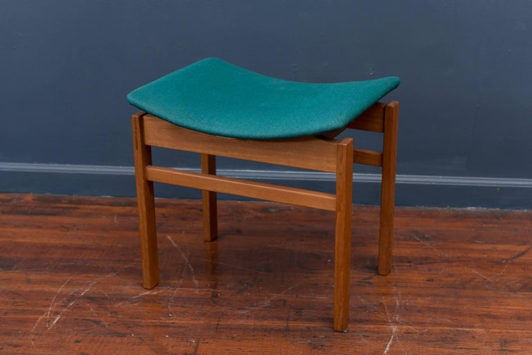 Scandinavian Modern Danish Foot Stool For Sale