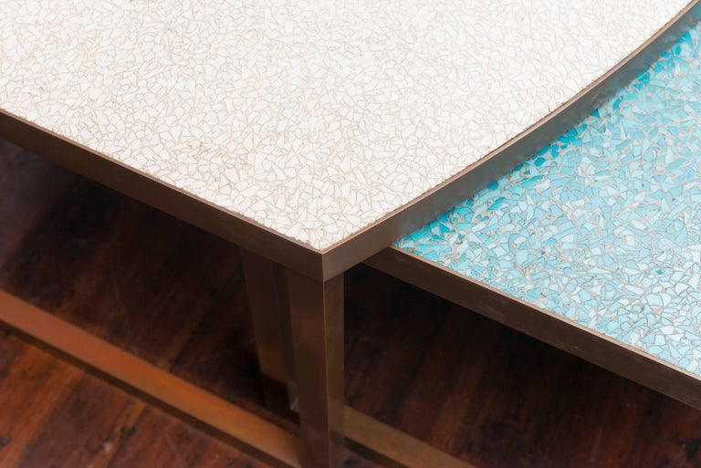 Mid-Century Modern Mosaic Glass Coffee Tables For Sale