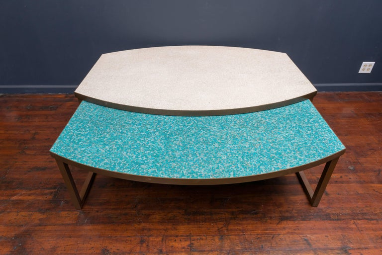 Mosaic Glass Coffee Tables In Excellent Condition For Sale In San Francisco, CA