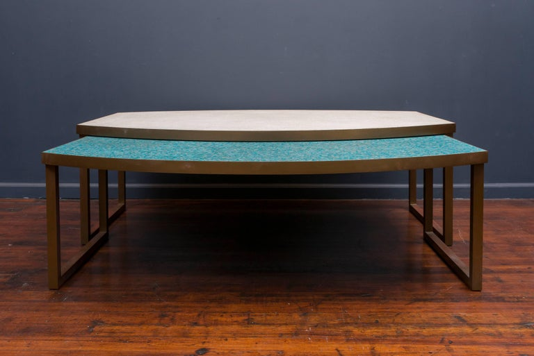 Mid-20th Century Mosaic Glass Coffee Tables For Sale