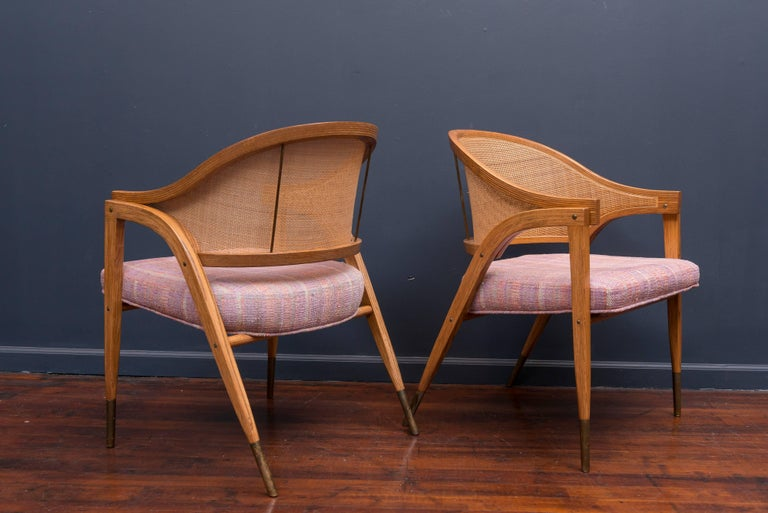 Edward Wormley Captain's Chairs for Dunbar In Excellent Condition For Sale In San Francisco, CA