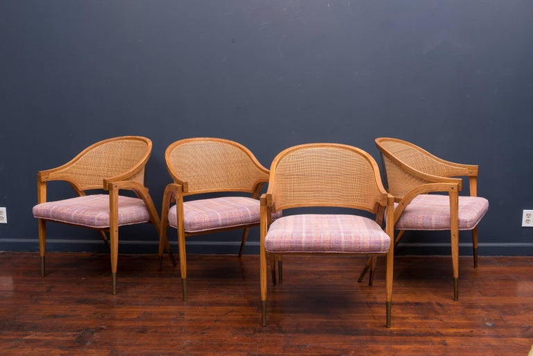 Edward Wormley Captain's Chairs for Dunbar For Sale 3