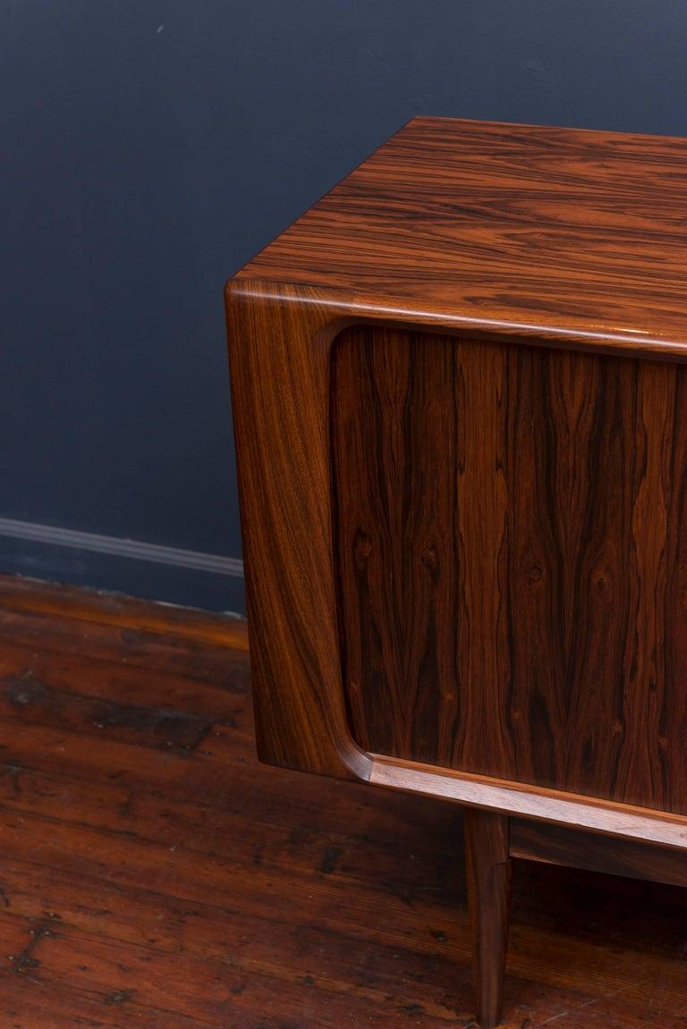 Scandinavian Modern Danish Rosewood Credenza For Sale